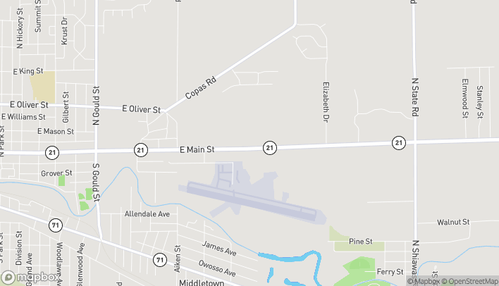 Map of 1573 E M 21 in Owosso
