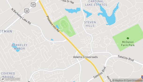 Mapa de 2570 Pleasant Hill Rd en Duluth