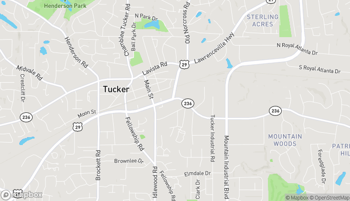 Map of 4347 Hugh Howell Rd in Tucker