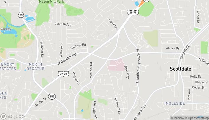 Mapa de 1524 D-E Church St en Decatur