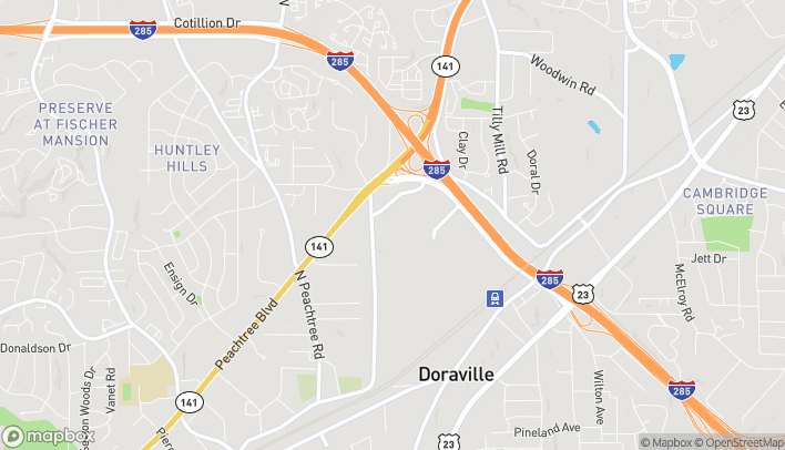 Map of 6035 Peachtree Road in Doraville