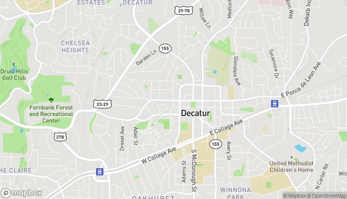 Mapa de 245 W Ponce DeLeon Ave en Decatur