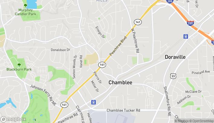 Map of 5485 Peachtree Industrial Blvd in Atlanta