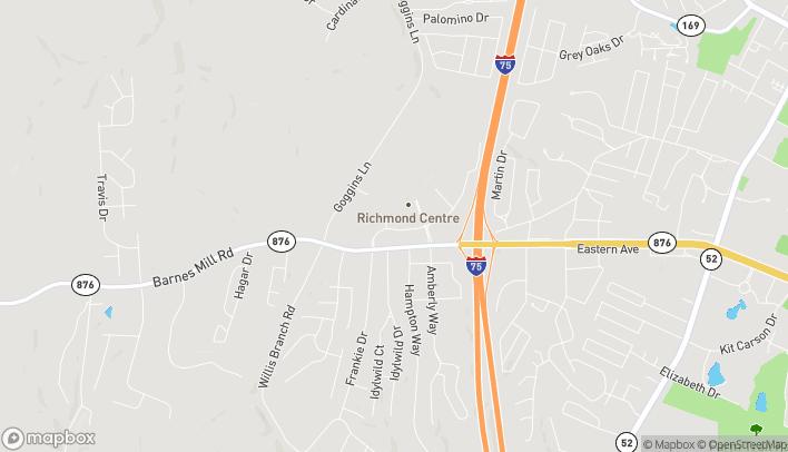 Mapa de 2055 Lantern Ridge Drive en Richmond