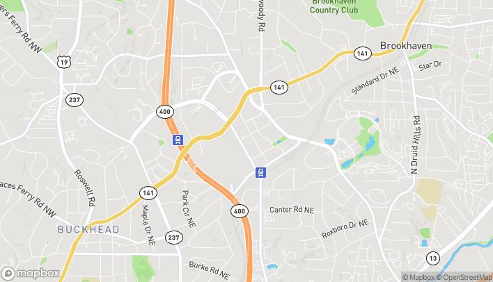 Map of 3431 Lenox Road NE in Atlanta