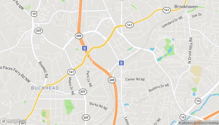 Map of 3393 Peachtree Rd. NE in Atlanta