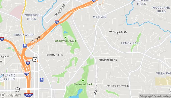 Map of 1544 Piedmont Ave in Atlanta