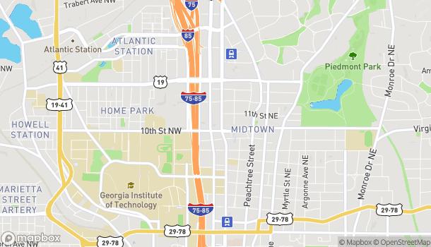 Mapa de 1010 W Peachtree St NW en Atlanta