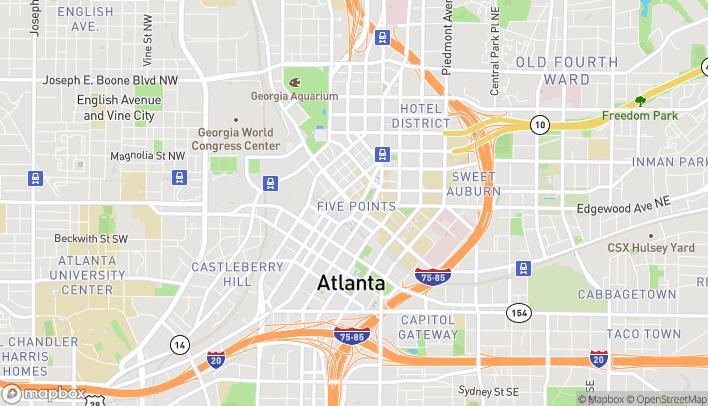 Map of 190 Marietta St NW in Atlanta