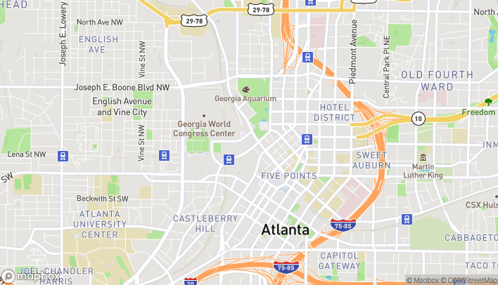 Mapa de 190 Marietta St NW en Atlanta