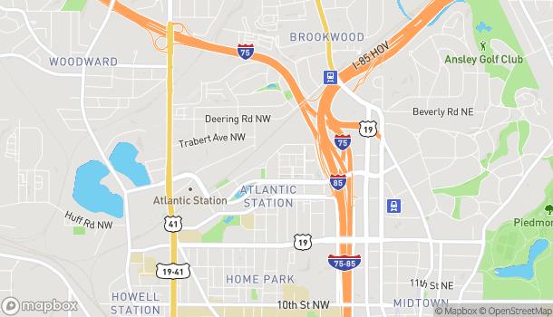 Map of 1380 Atlantic Drive in Atlanta