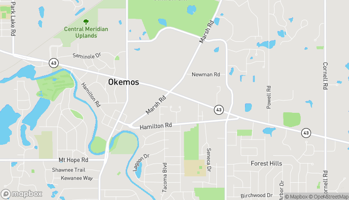Map of 1931 West Grand River Avenue in Okemos