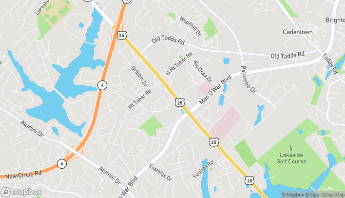 Mapa de 3098 Richmond Road en Lexington