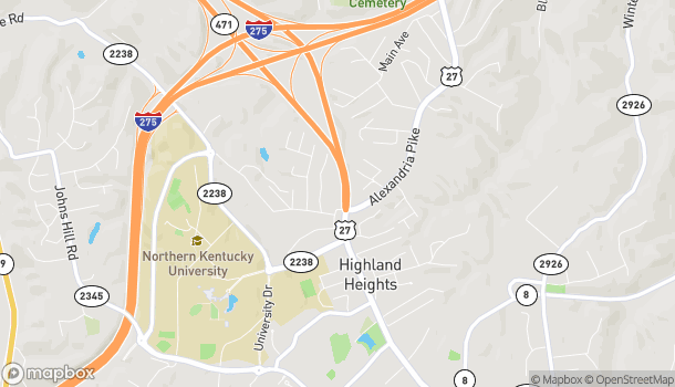 Map of 2525 Wilson Road in Highland Heights