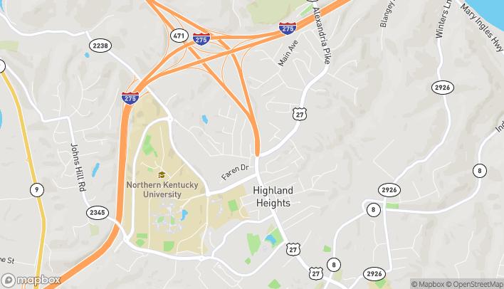 Mapa de 2525 Wilson Road en Highland Heights