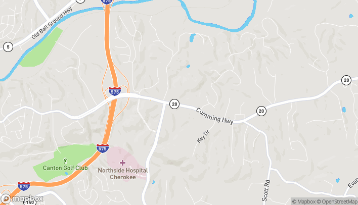 Map of 2129 Cumming Hwy in Canton