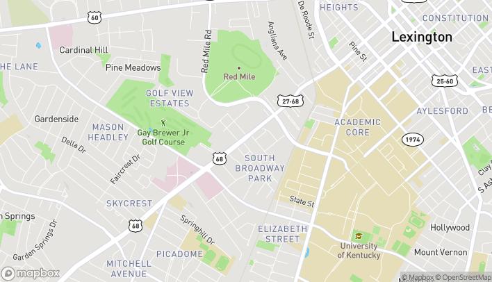 Mapa de 1112 S Broadway en Lexington