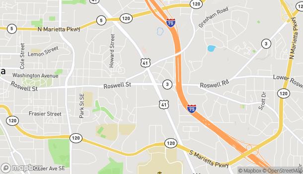 Map of 12 Cobb Pkwy S in Marietta