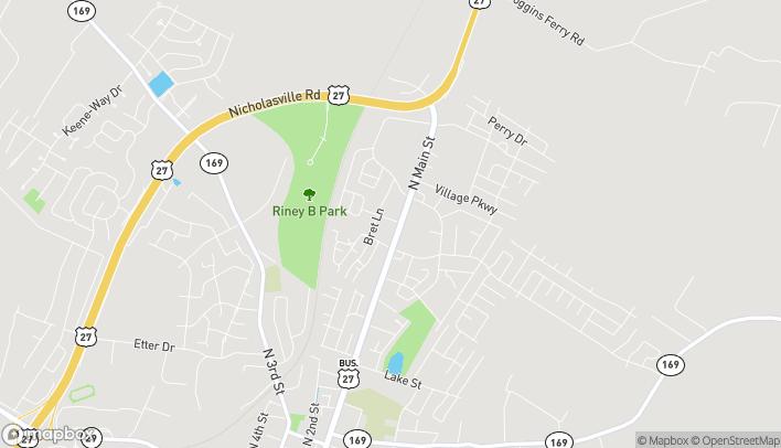 Mapa de 947 North Main Street en Nicholasville