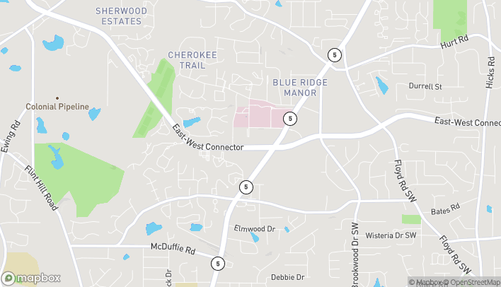Map of 1830-1 East West Connector in Austell