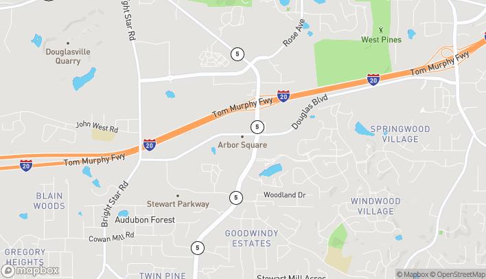 Map of 9559 Highway 5 in Douglasville