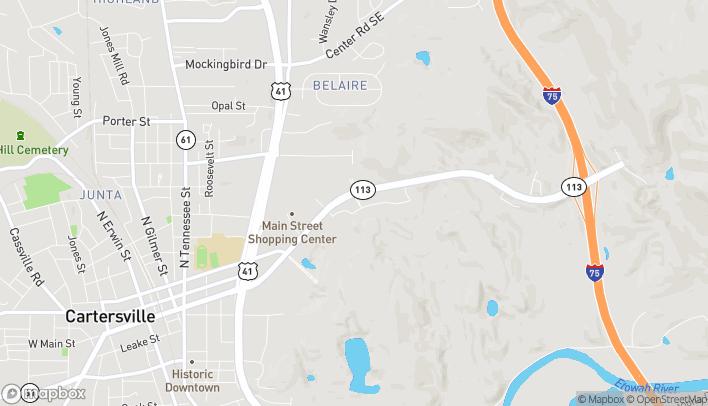 Map of 80 Main Streetmarket Place SE in Cartersville