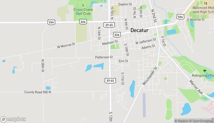 Mapa de 510 S 13th St en Decatur