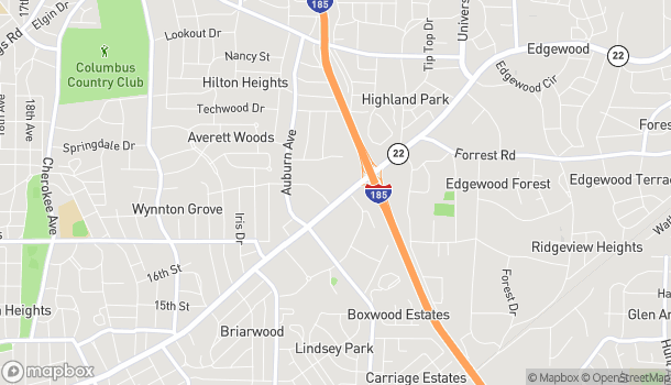 Map of 3201 Macon Rd in Columbus