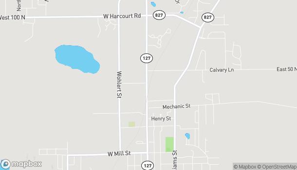 Mapa de 1102 North Wayne Street en Angola