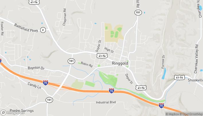 Map of 7474 Nashville Street in Ringgold