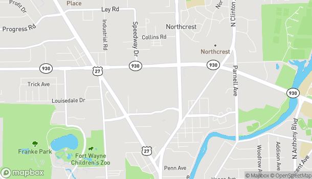 Mapa de 4201 Coldwater Road en Fort Wayne