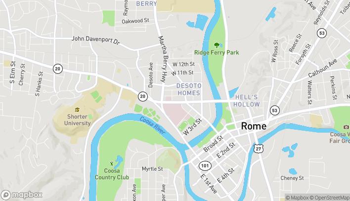 Map of 405 Turner McCall Blvd NE in Rome