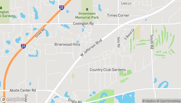 Map of 6723 W Jefferson Blvd in Fort Wayne