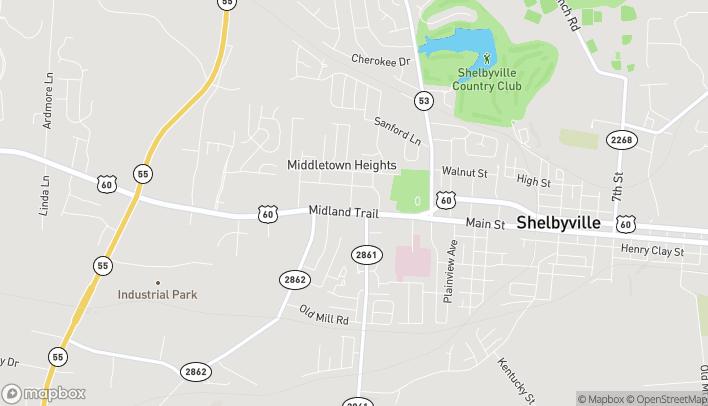 Mapa de 1663 Midland Trail en Shelbyville