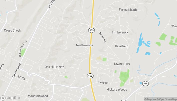 Mapa de 5691 Highway 153 en Hixson