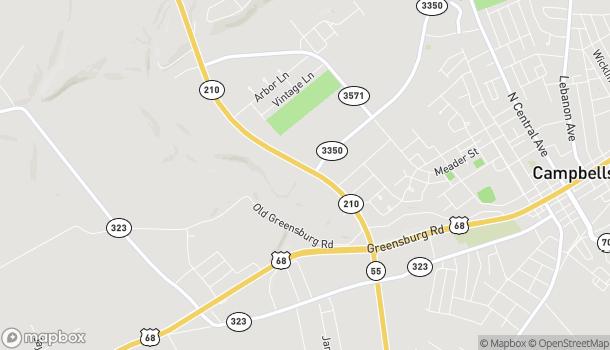 Map of 399 Campbellsville Bypass in Campbellsville