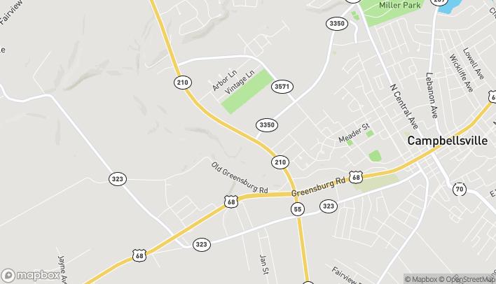 Mapa de 399 Campbellsville Bypass en Campbellsville