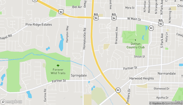 Map of 2927 Ross Clark Circle in Dothan