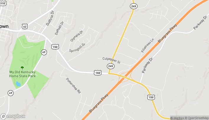 Mapa de 209 Culpepper St en Bardstown