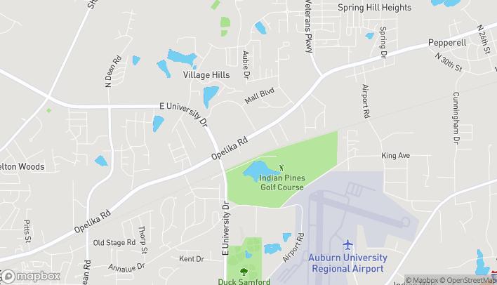 Mapa de 1710 Opelika Rd en Auburn