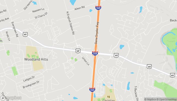 Map of 13315 Shelbyville Rd in Louisville