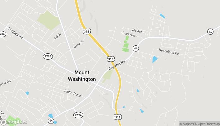 Mapa de 185 Oakbrooke Drive en Mount Washington