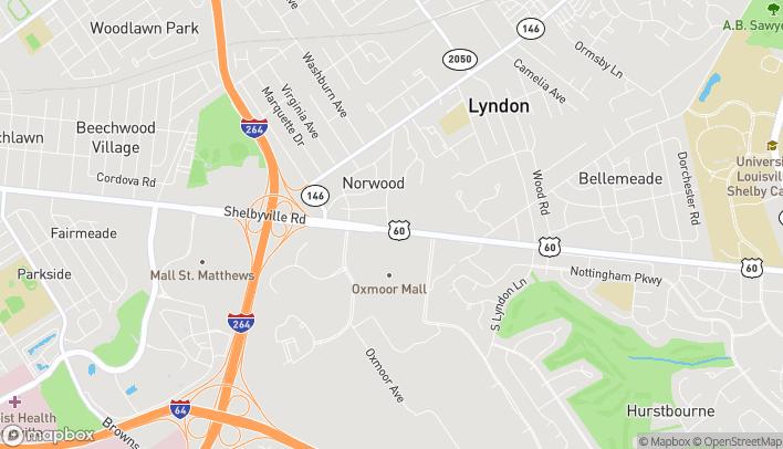 Mapa de 7801 Shelbyville Rd en Louisville