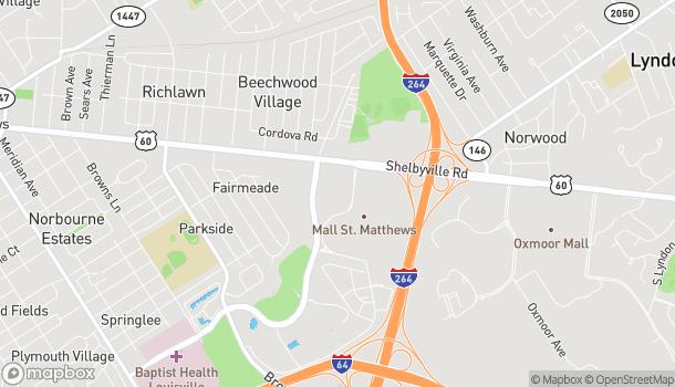Map of 4906 Shelbyville Rd in Saint Matthews