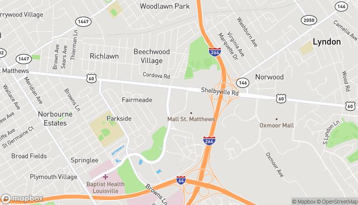 Mapa de 4906 Shelbyville Rd en Saint Matthews