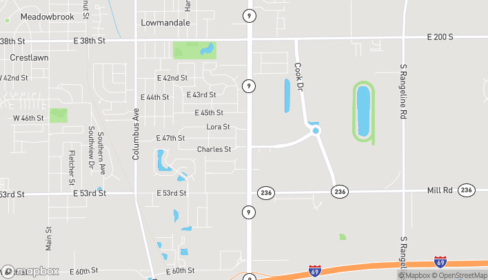 Mapa de 4711 S Scatterfield Rd en Anderson