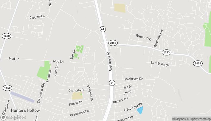 Mapa de 5006 Mud Lane en Louisville