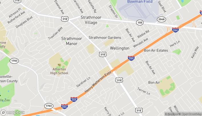 Map of 3014 Bardstown Rd in Louisville