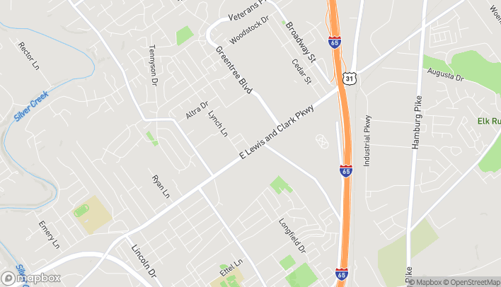 Mapa de 709 E Lewis And Clark Parkway en Clarksville