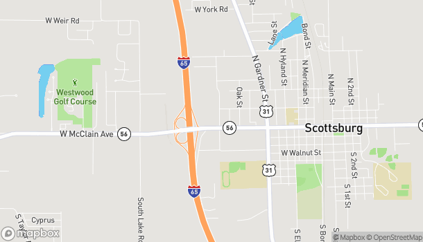 Mapa de 1220 W McClain Ave en Scottsburg